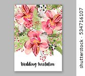 alstroemeria wedding invitation ... | Shutterstock .eps vector #534716107