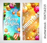christmas. banners. | Shutterstock .eps vector #534716215
