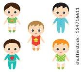 vector illustration of happy... | Shutterstock .eps vector #534716611