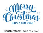 merry christmas and happy new... | Shutterstock .eps vector #534719767