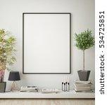 mock up poster frame in hipster ... | Shutterstock . vector #534725851