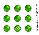 set of decorative green... | Shutterstock .eps vector #534729169