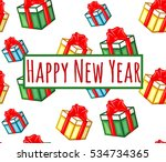 happy new year seamless pattern ... | Shutterstock .eps vector #534734365