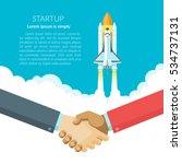 a handshake deal business... | Shutterstock .eps vector #534737131