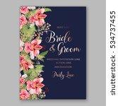 alstroemeria wedding invitation ...   Shutterstock .eps vector #534737455