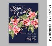 alstroemeria wedding invitation ... | Shutterstock .eps vector #534737491