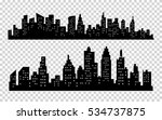 vector black city silhouette... | Shutterstock .eps vector #534737875