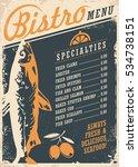 bistro restaurant menu design... | Shutterstock .eps vector #534738151