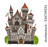 cartoon fairy tale castle tower ... | Shutterstock .eps vector #534739531
