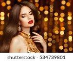 elegant sexy girl portrait in... | Shutterstock . vector #534739801