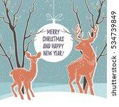 christmas illustration with... | Shutterstock .eps vector #534739849