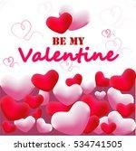 valentine card | Shutterstock .eps vector #534741505