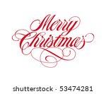 merry christmas vector lettering | Shutterstock .eps vector #53474281