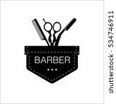 logo for barbershop  hair salon ...   Shutterstock .eps vector #534746911