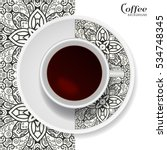 cup of coffee with black and... | Shutterstock .eps vector #534748345
