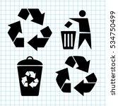 recycling    vector icon set   Shutterstock .eps vector #534750499