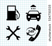gas station  service icons set | Shutterstock .eps vector #534750535