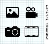 video  icon vector set | Shutterstock .eps vector #534750595