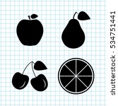 fruit  vector icon set