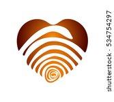 heart vector. grunge. texture.... | Shutterstock .eps vector #534754297