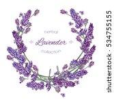 Vector Lavender Flower Round ...