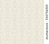 vintage beige swirly ornament ...   Shutterstock .eps vector #534756505