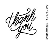 thank you inscription. hand... | Shutterstock .eps vector #534762199
