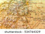 Small photo of Geographic map of Colorado state close