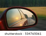 Sunset Reflection In Mirror Of...