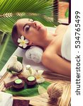 body care. spa body massage... | Shutterstock . vector #534765499