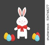 cute easter bunny isolated... | Shutterstock .eps vector #534768277