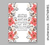 wedding invitation floral... | Shutterstock .eps vector #534768481