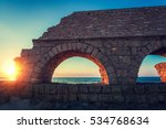 remains of the ancient roman... | Shutterstock . vector #534768634