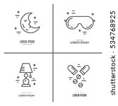 collection of line vector icons ... | Shutterstock .eps vector #534768925