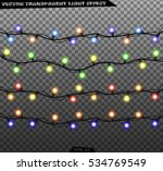 vector garlands isolated on a...   Shutterstock .eps vector #534769549
