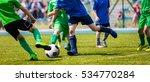 running young soccer football... | Shutterstock . vector #534770284