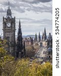princes street from calton hill ... | Shutterstock . vector #534774205