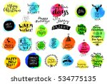 colorful watercolor set of... | Shutterstock .eps vector #534775135