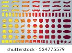 label ribbon banner red vector... | Shutterstock .eps vector #534775579