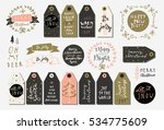 set of merry christmas and... | Shutterstock .eps vector #534775609