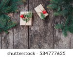 christmas background with... | Shutterstock . vector #534777625
