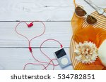 top view of traveler's outfits... | Shutterstock . vector #534782851