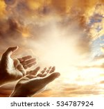 hands reaching for the sky   Shutterstock . vector #534787924