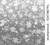 vector falling snow. isolated... | Shutterstock .eps vector #534788791