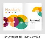 abstract circles  annual report ... | Shutterstock .eps vector #534789415