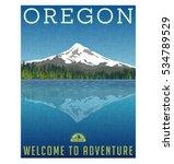 oregon  united states travel... | Shutterstock .eps vector #534789529