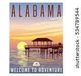 alabama  united states travel... | Shutterstock .eps vector #534789544