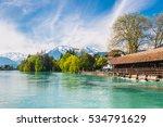 landscape along lake thun ... | Shutterstock . vector #534791629