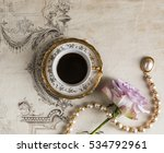 large gourmet cup of coffee on... | Shutterstock . vector #534792961