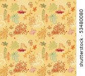 seamless vector autumn...   Shutterstock . vector #53480080